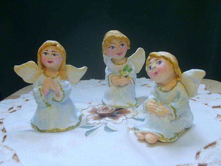 Ангел из глины своими руками