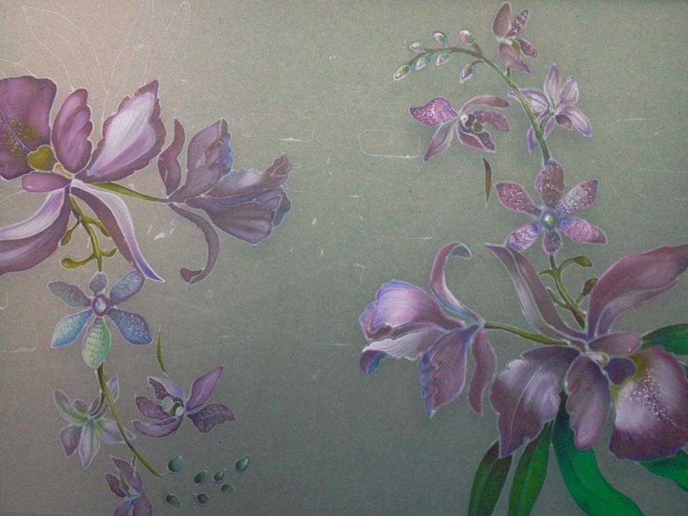 Цветы из бисера схемы сакура