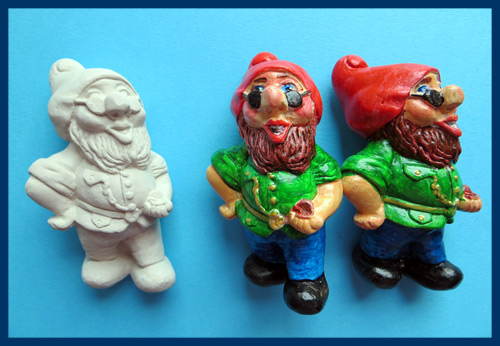 Фігурки з силіконової форми і гіпсу